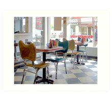 Fifties Diner Deco Art Print
