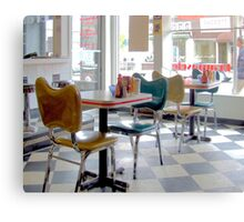 Fifties Diner Deco Canvas Print