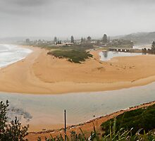 Narrabeen Lagoon in the Rain by TimC