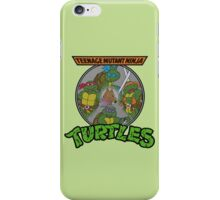 TMNT - Sewer Lid Four Turtles with Splinter  iPhone Case/Skin