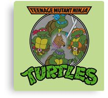 TMNT - Sewer Lid Four Turtles with Splinter  Canvas Print