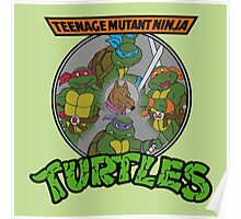 TMNT - Sewer Lid Four Turtles with Splinter  Poster
