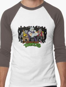TMNT - Foot Soldiers with Shredder, Bebop & Rocksteady - Teenage Mutant Ninja Turtles Men's Baseball ¾ T-Shirt