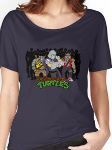 TMNT - Foot Soldiers with Shredder, Bebop & Rocksteady - Teenage Mutant Ninja Turtles Women's Relaxed Fit T-Shirt