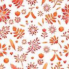 - Red watercolor pattern - by Losenko  Mila