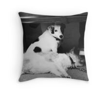 low down & flat out Throw Pillow