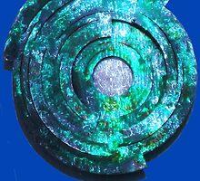 Blue/Aqua/Green Shield-t by DAdeSimone