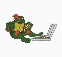 TMNT - Michelangelo with Pizza Kids Tee