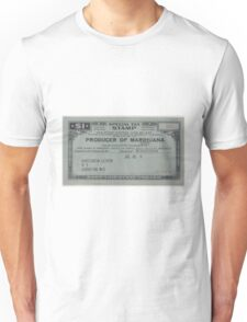 Producer of Marihuana Unisex T-Shirt