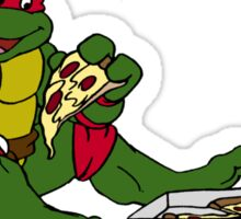 TMNT - Raphael with Pizza Sticker