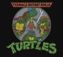 TMNT - Sewer Lid Four Turtles with Splinter  Kids Tee