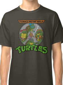TMNT - Sewer Lid Four Turtles with Splinter  Classic T-Shirt