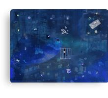 Spaced out in blue Canvas Print