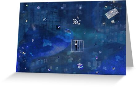 Spaced out in blue by Albert