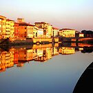 Perfect Pisa Reflection by diLuisa Photography