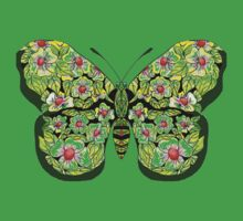 Butterfly T-Magnolias One Piece - Short Sleeve