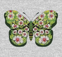 Butterfly T-Magnolias One Piece - Long Sleeve