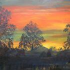 Tropical Sunrise, Acrylic painting by Esperanza Gallego