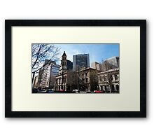Adelaide Town Hall, King Wlm.Street, City. Framed Print