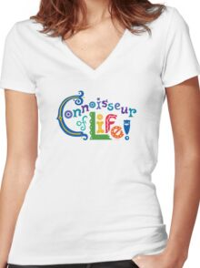 Connoisseur of Life - t shirt Women's Fitted V-Neck T-Shirt