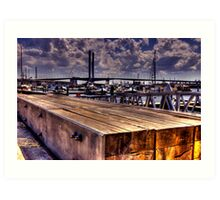 Boardwalk. Art Print