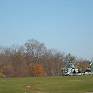 Green houses and autumn trees - Conner Prairie by Artophobe