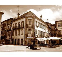 Off the fountain;......Ponte de Lima Village series I !... Photographic Print
