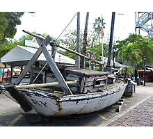wooden boat  Photographic Print