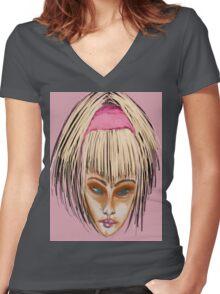 Golden Girl Women's Fitted V-Neck T-Shirt