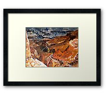 Mule Train at the Grand Canyon Framed Print