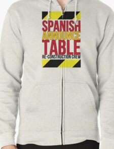 Spanish Announce Table Re-Construction Crew T-Shirt