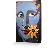 Mona in Purple Greeting Card