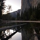 Sunset, El Capitan. by Michael Treloar