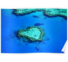 Heart Reef, Whitsundays Poster