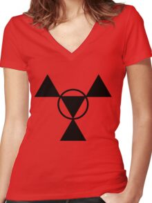 Guilmon Casual Women's Fitted V-Neck T-Shirt