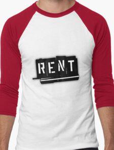 Rent The Musical Logo Men's Baseball ¾ T-Shirt
