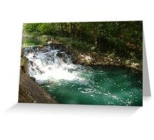 WILLIAMSBURG  WATERFALL Greeting Card