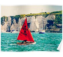 Little Red Sailboat. Poster