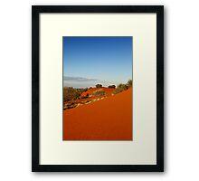 Red dune landscape of central Australia Framed Print