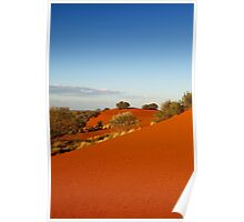 Red dune landscape of central Australia Poster