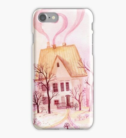 Pinky fairytale cottage iPhone Case/Skin