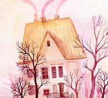 Pinky fairytale cottage by lileinaya