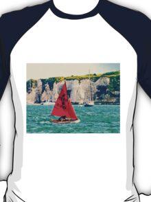 Little Red Sailboat. T-Shirt