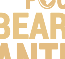 Running Drops Pounds But Beards Drop Panties - Custom Tshirt Sticker