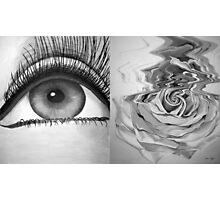 Eye and Flower Diptych Photographic Print