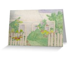 House with Picket Fence Greeting Card