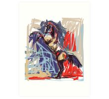 Horse rising high Art Print