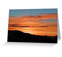 Silver Zone Sunrise Greeting Card
