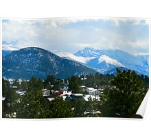 Overlooking Estes Park Poster