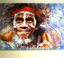 *Painting of Australian Aborigine - Daylesford Art Gallery* by EdsMum